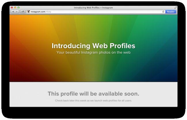 Instagram відкрив веб-профілі