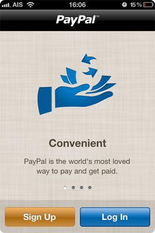 Оновилося додаток paypal для iphone