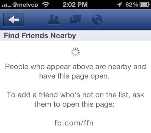 Оновлене додаток facebook покаже, хто з друзів неподалік